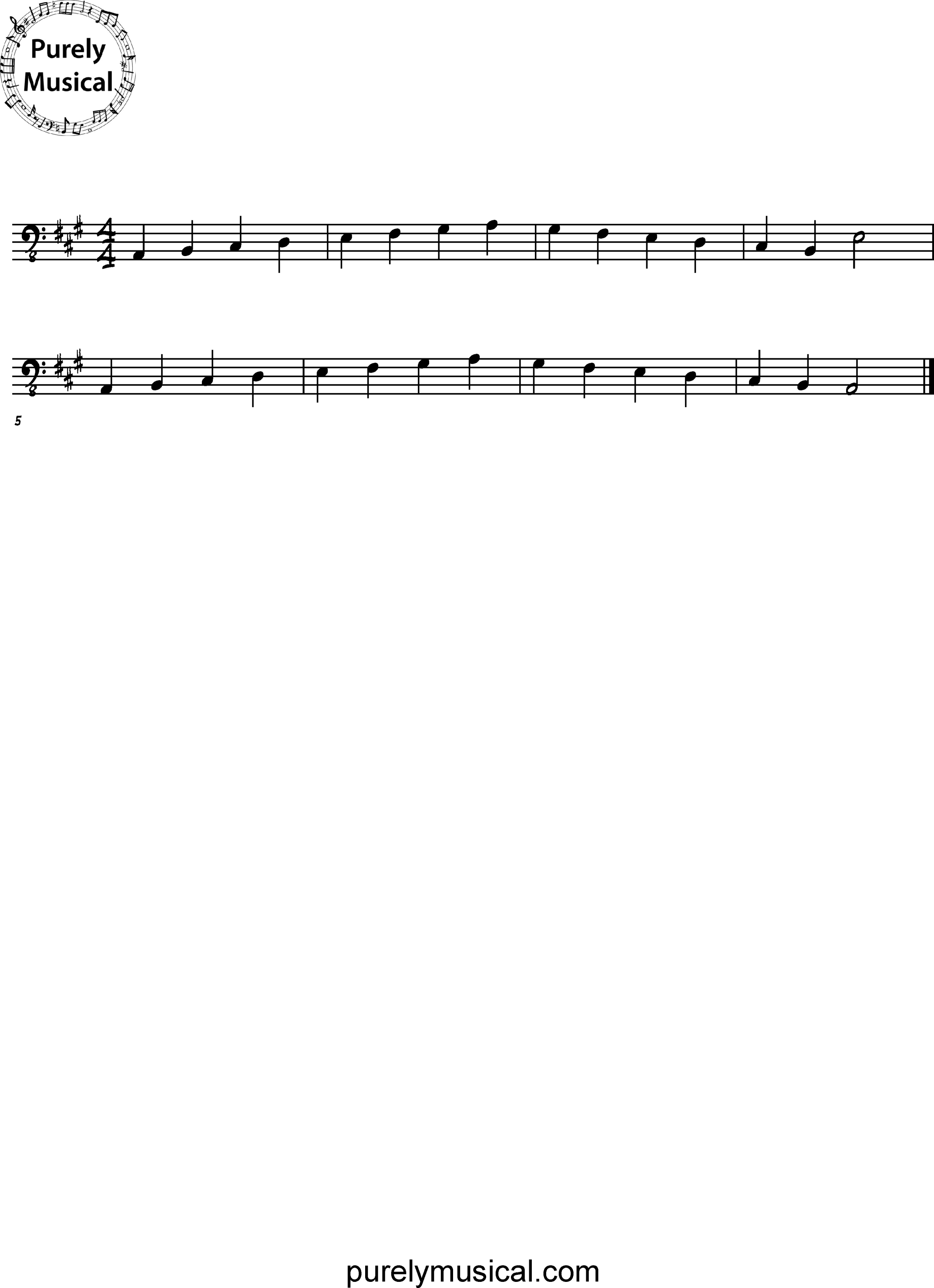 Beginner  Scale A Major