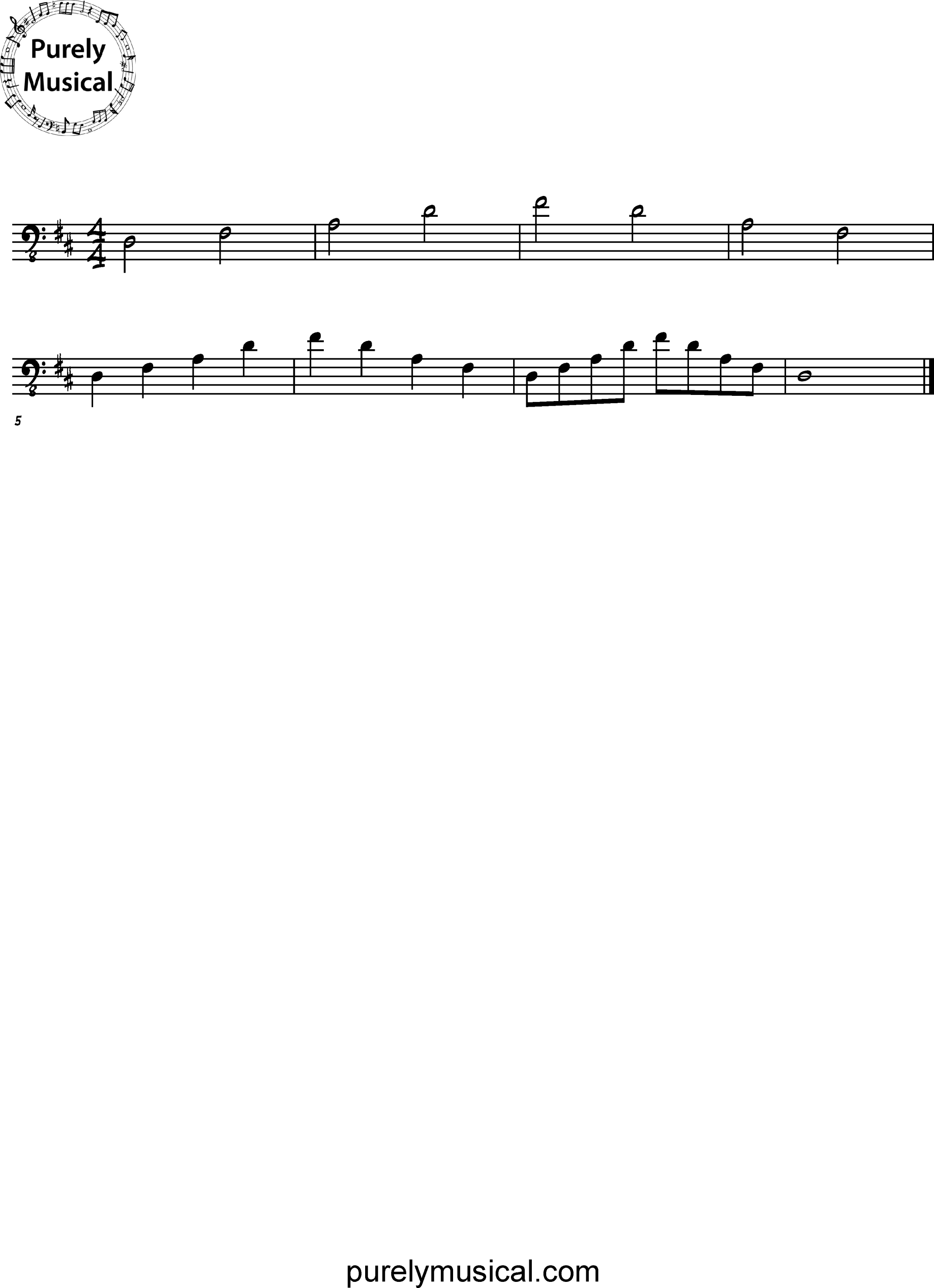 Beginner  Arpeggio D Major