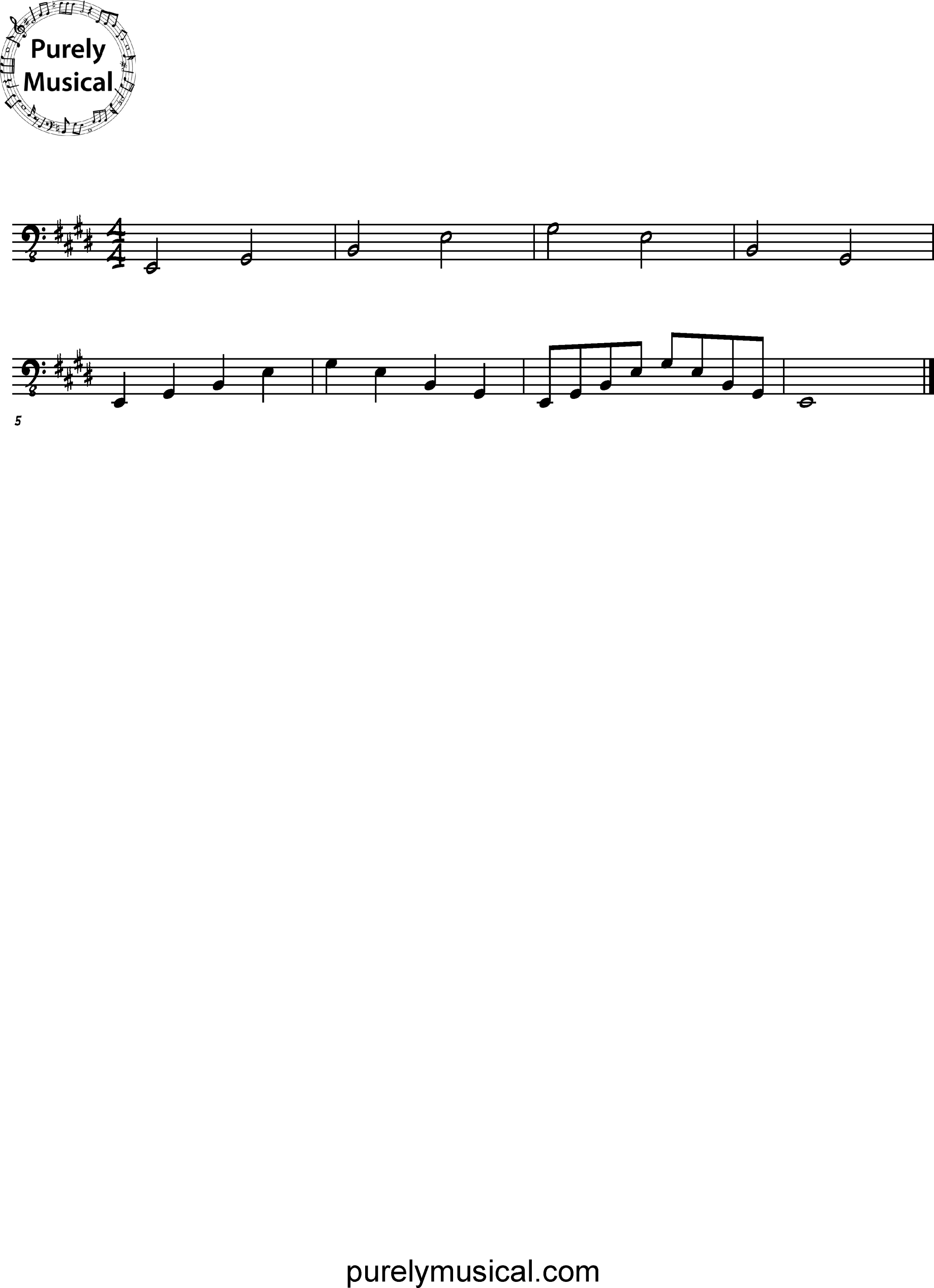 Intermediate  Arpeggio E Major