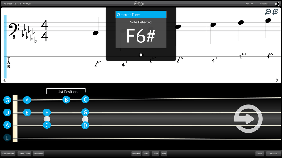 Purely Double Bass Screenshot Chromatic Tuner