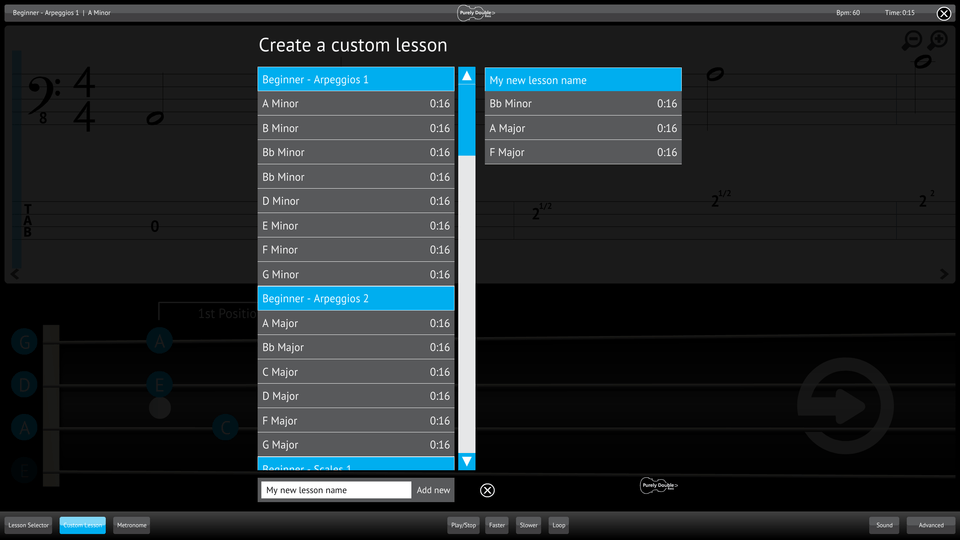 Purely Double Bass Screenshot Custom Lesson