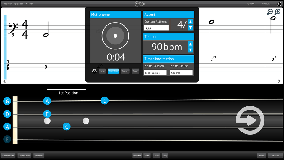 Purely Double Bass Screenshot Custom Metronome