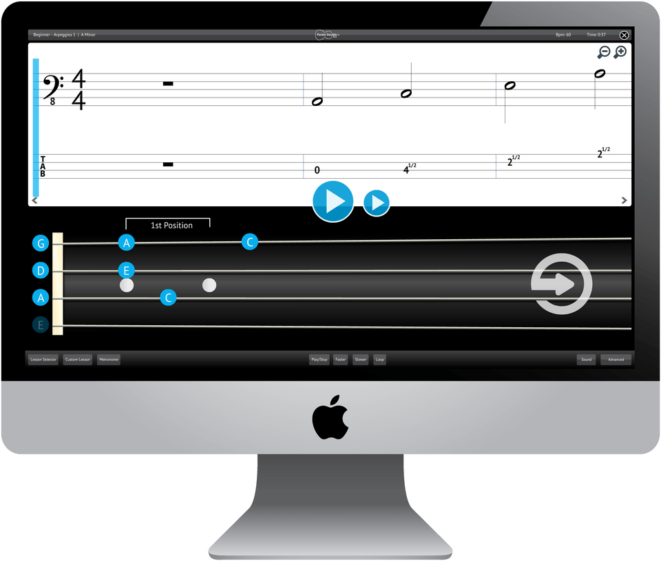 Purely Double Bass Software Application Screenshot